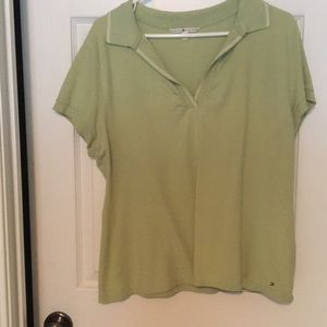 Tommy Hilfiger XL green polo tee